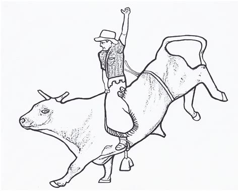 rodeo coloring pages bull rider color page by dancing