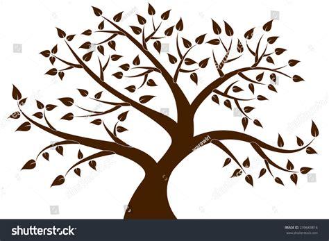tree brown decorative brown tree silhouette stock vector 239683816