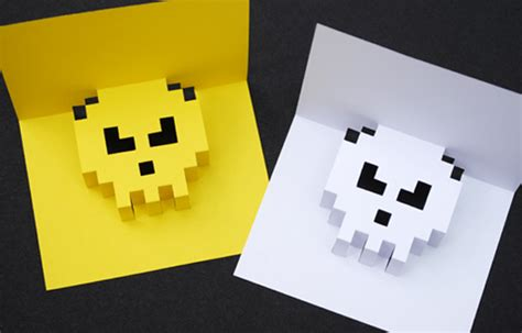 how to make an awesome pop up card 8 bit popup cards minieco