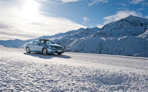 Car Wallpaper Winter by 2010 E Klasse Cabriolet Schnee Hintergrundbilder 2010 E