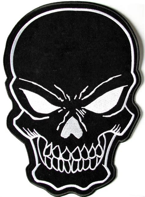 black skull black skull large back patch