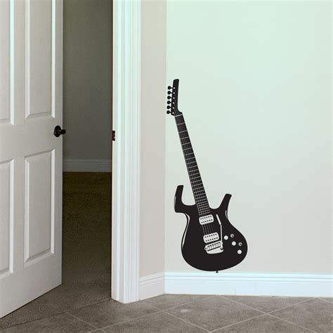 guitar wall stickers guitar rocker wall decals