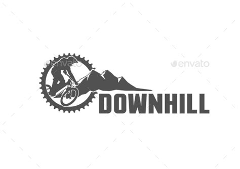 downhill sport logo template by badron graphicriver