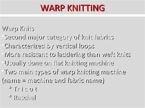 types of warp knitting knitting technology