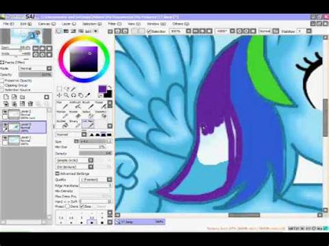 paint tool sai tutorial mlp coloring rainbow dash with paint tool sai