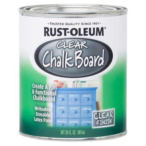 chalkboard paint rustoleum colors rust oleum specialty 30 oz clear chalkboard paint