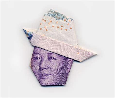 money hat origami money portraits