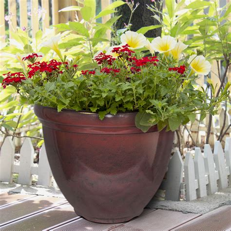 southern patio planters hdr 12 quot heritage planter chocolate cherry southern patio