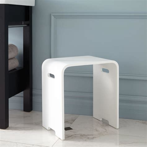 modern vanity stool for bathroom which timber stool