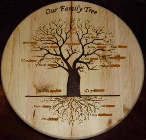 family woodworking trees family gifts and woods on