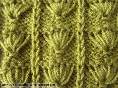 slip stitch seam knitting palm leaf pattern knitting unlimited