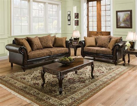 wood living room set san marino traditional living room set w wood trim