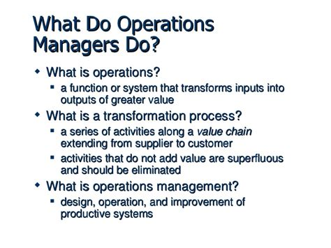 what does in operations management