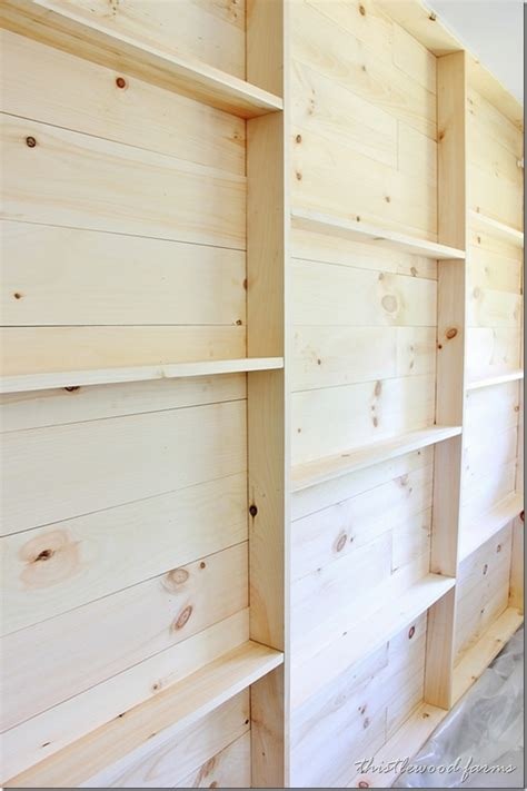 wood plank shelves how to build a plank wall with shelving thistlewood farm