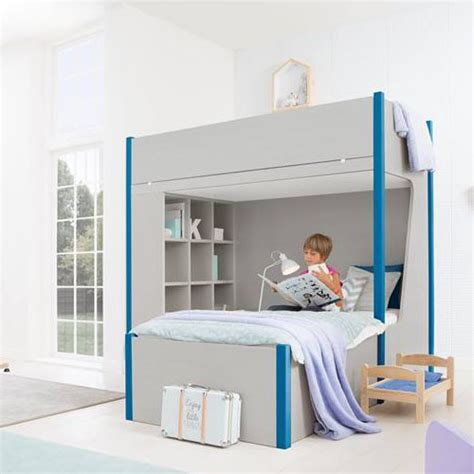 l shape bunk bed colombini casa blue l shaped modern bunk bed