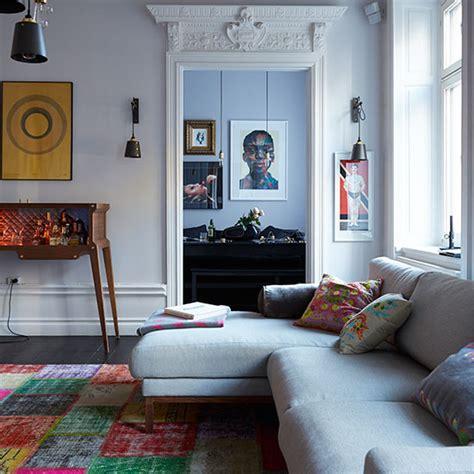 eclectic living room eclectic living room with grey sofa decorating ideal home