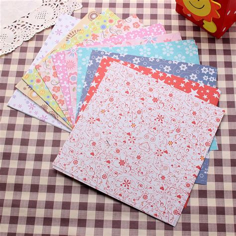 patterned craft paper 72 sheets 15x15cm mix color square 12 kinds of patterns