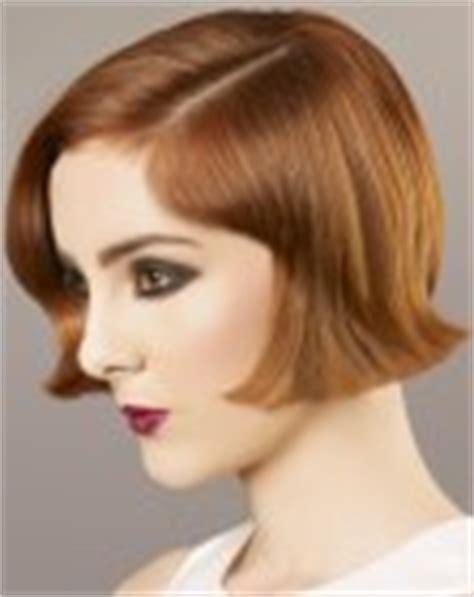 ear length bob hairstyle ear lobe length bob with fingerwaves and a short clipped neck