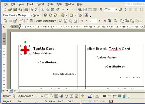 card in word create new cards