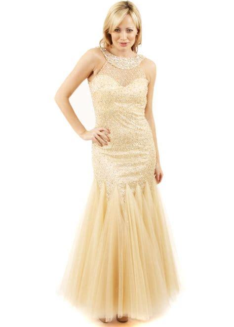 beaded fishtail dress forever unique chagne lavine dress lavine gown