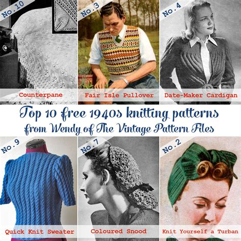 1940 knitting patterns free guest post top 10 free 1940s knitting patterns from the