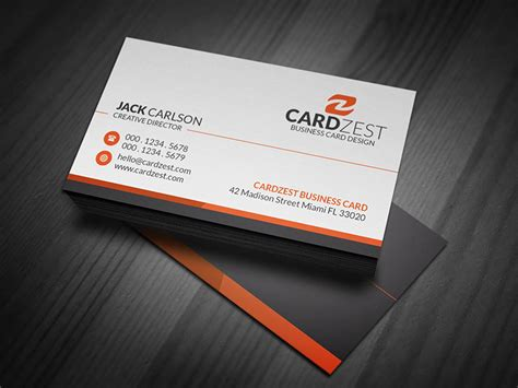 professional card simple professional corporate business card template