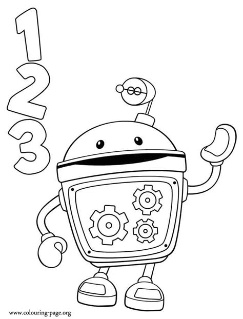 team umizoomi bot coloring page