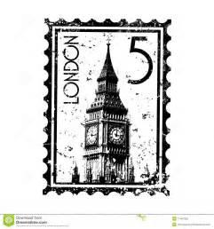 london stamp or postmark style grunge stock vector image