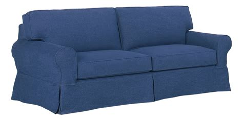 denim sofa slipcover denim slipcovered sofa with chaise ottoman club furniture