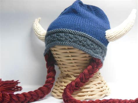viking knit hat knit viking hat viking helmet braids child viking