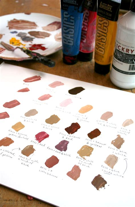 acrylic paint how to make skin color how to paint skin tones step by step