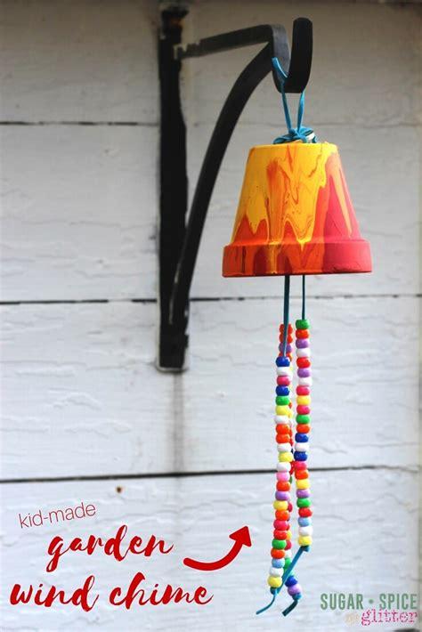 kid craft gifts kid s craft ideas garden wind chimes