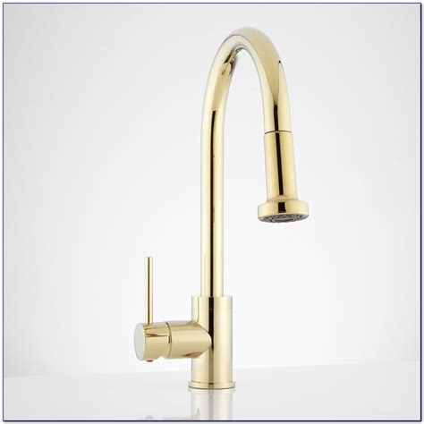 kitchen sinks and faucets kohler polished brass kitchen faucet