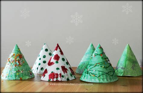 paper plate tree sun hats wellie boots trees paper plate twig tree