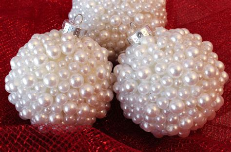 pear ornament pearl tree ornaments two crafting