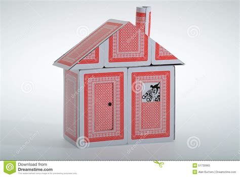 how to make a house out of cards a house of cards stock image image of temporary joker