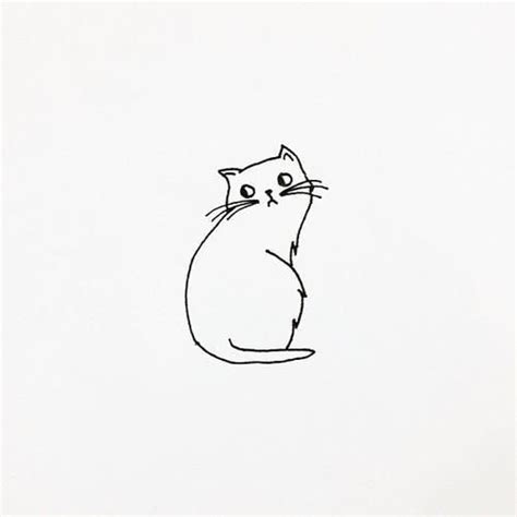 cat simple 25 best ideas about cat drawing on