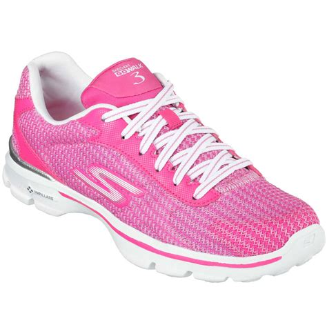 skechers knit shoes skechers womens go walk 3 fit knit walking shoes