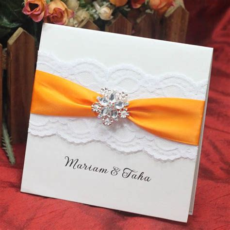 designs of cards invitation card for wedding square white flower pattern