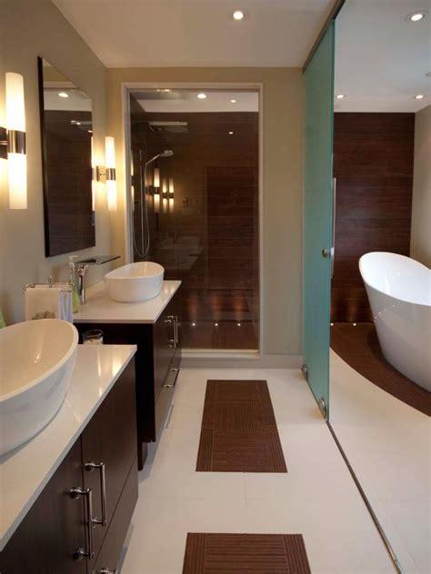 hgtv bathroom ideas photos contemporary bathroom with freestanding tub photo