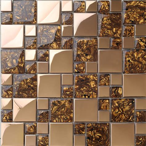 kitchen backsplash mosaic tile metal mosaic tile golden kitchen backsplash tile bath wall