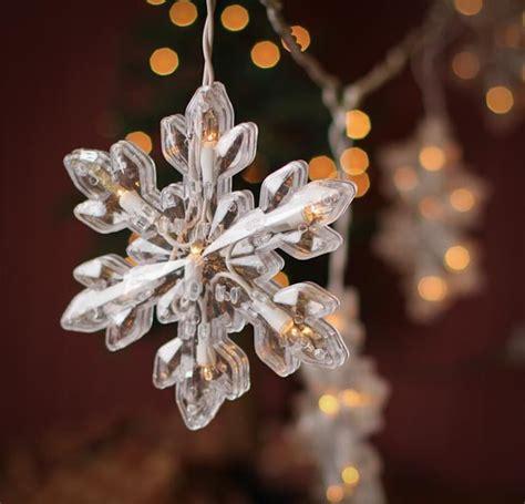 large snowflake string lights lighting and