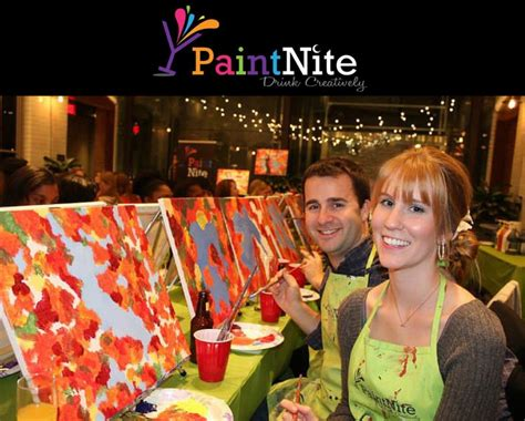 paint nite venues 25 for a paint nite admission for one at a local bar