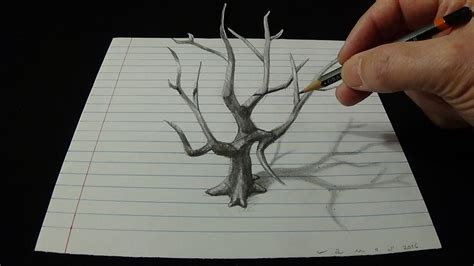 3d drafting 3d drawing tree how to draw 3d tree with pencil
