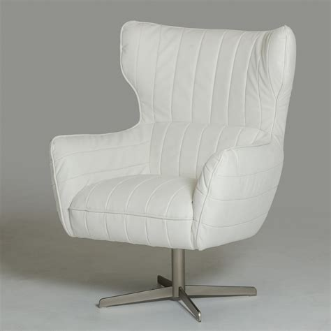 White Leather Accent Chair by White Leather Swivel Accent Chair Carolina