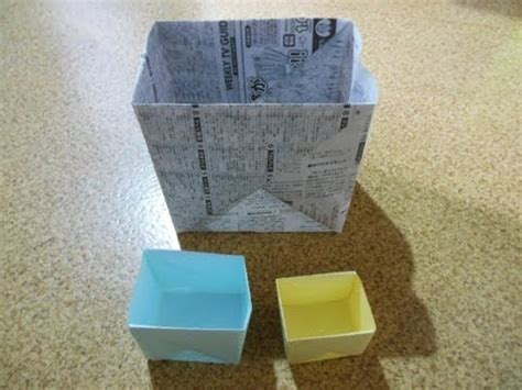 how to make a big origami box f 19 特大ゴミ箱の作り方 how to make a big box origami