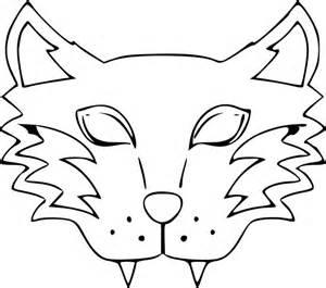 coloriage masque loup garou 224 imprimer