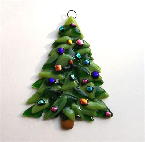 tree glass ornaments fused glass ornament tree