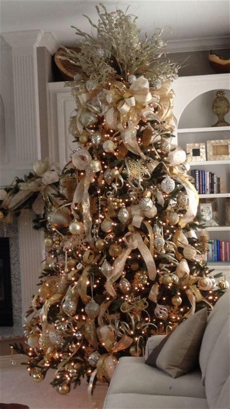 gold and white tree tendencias decorativas de navidad 2014 vol 1