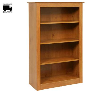 self assembly bookshelves gardens wooden bookcase 4 shelf h1230xw800xd340mm